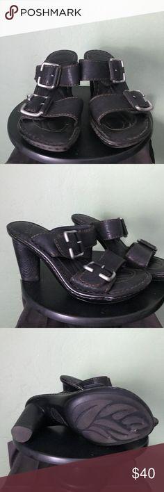 Size 6 black born sandals Buckle up. Born Shoes Sandals