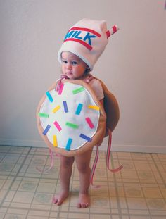 Baby Costume Toddler Costume Cookie Halloween Costume Sugar Cookie with Sprinkles. $60.00, via Etsy.