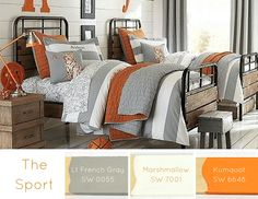 The Sport Lt French Gray SW 0055 Kumquat SW 6648 Marshmallow SW 7001