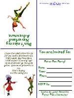 FREE printable Peter Pan Invitations...idea