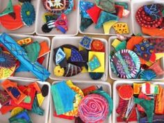 3D and Sculptures | Art Lessons For Kids (using wood scraps..painted solid and then oil pastel details)