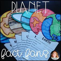 Planet Fact Fans by Amanda Garcia Space Classroom, Classroom Themes, Planet Project, Science Anchor Charts, Solar System Projects, Cycle 2, Report Writing, Science Activities, Science Resources