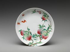 Dish with Peaches and Bats, Qing dynasty, 18th centurymetmuseum.org
