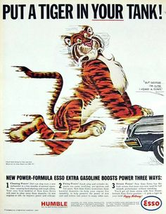 esso tiger pushes