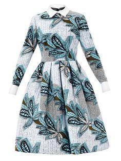 Mandisa contrasting-collar print dress | Stella Jean | MATCHES...