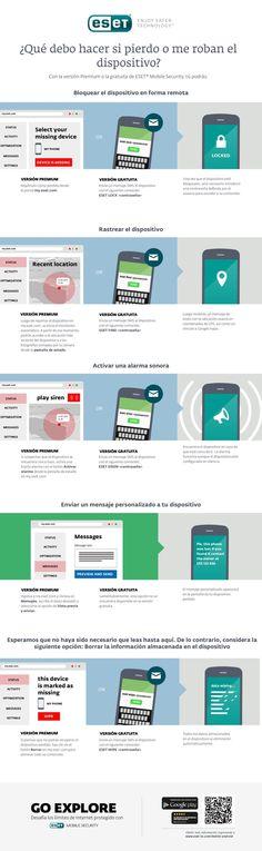 Qué hacer si me roban o pierdo el móvil #infografia #infographic