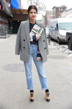 Add a stylish pair of socks and rock those cropped pants you love so much, a la Man Repeller's Leandra Medine