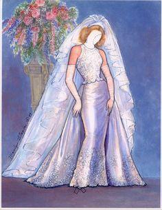 Babette's Bridal Trousseau paper doll  #3