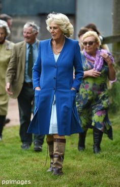The Duchess of Cornwall and Prince of Wales during their annual summer tour of Wales