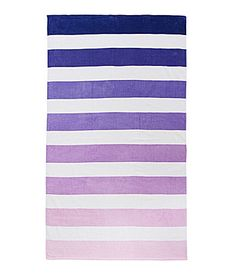 "Purple Punch: Summer Oasis ""Ombre Stripe"" Purple Beach Towel"