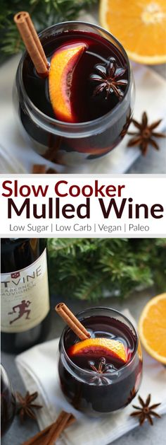Slow Cooker Mulled Wine | Warm, spiced mulled wine is the perfect winter drink! Entertaining couldn't be any simpler with this low-sugar mulled red wine made in the slow cooker. It's perfect for parties - just set it on 'keep warm' and let your guests serve themselves. | therealfoodrds.com