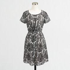 J.Crew Factory - Factory twist-front dress.. In beige polka dot color