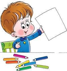 "Photo from album ""Школьные принадлежности"" on Yandex. Animation Schools, School Frame, Kids Calendar, School Clipart, Preschool Art, Writing Paper, Kids Cards, Colorful Pictures, Cute Cartoon"