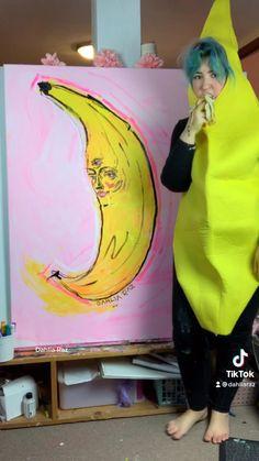 Banana Oatmeal Cookies, Banana Pudding, Banana Bread, Banana Cupcakes, Yellow Painting, Frozen Banana, Dahlia, My Arts, Graphic Design