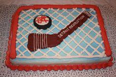 hockey net cake