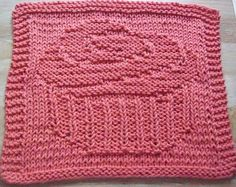 Frosted Cupcake Knit Dishcloth Pattern - you have to buy the pattern... but this looks simple enough to make...