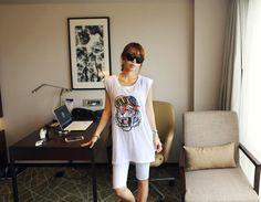 DANI LOVE - Tiger Printed Sleeveless Top #TigerPrinted #Tiger #printed #Sleeveless #top