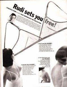 Rudi Gernreich No Bra Ad, 1965