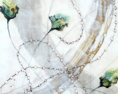 Jade Thicket detail from encaustic painting by Alicia Tormey