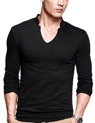 iLoveSIA Mens T-Shirts Casual Long Sleeves Base Shirt Slim V-Neck Undershirt. $13.99  Get this product today at Great Deals for You  Online
