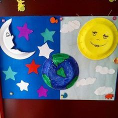 Space crafts for kids space craft idea for kids crafts and worksheets preschool on outer space . Space Activities, Toddler Activities, Preschool Activities, Sun Crafts, Earth Day Crafts, Space Crafts For Kids, Art For Kids, Kids Crafts, Kindergarten Crafts