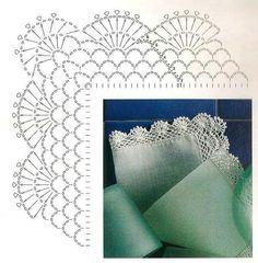 Best 12 Crochet Patterns Lace Crochet Lace Edging for Handtowel ~~ sandragcoatti – Salvabrani – SkillOfKing. Crochet Lace Collar, Crochet Lace Edging, Crochet Motifs, Crochet Diagram, Crochet Chart, Cotton Crochet, Filet Crochet, Thread Crochet, Crochet Doilies