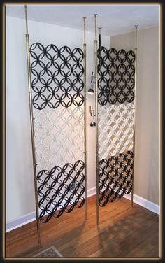 This Is A Fabulous Pair Of Mod Room Divider Panels From The 60s Each Divider