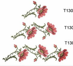 """Poppies in the Cross Stitch Technique"" Beaded Cross Stitch, Cross Stitch Rose, Cross Stitch Flowers, Cross Stitch Patterns, Fruit Flowers, Cross Stitching, Blackwork, Machine Embroidery Designs, Poppies"
