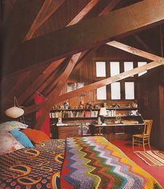 beams wood and blankets