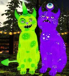 ♀ Frankie Monster ------------------- Fur: MonSter MaSh - FURIOUS FIEND Eyes: Crystal Spring (Shape: Curious   Pupil: Small) Shade: Twinkle Tail: Monster Ears: Monster Horns Whiskers: 2 Tone Black & White (Shape: Lite Dream) Size: 43 cm  (16.9 inch)  ♂ Spectro Monster ----------------- Fur: MonSter MaSh - BOO-HOO BEAST Eyes: Crystal Dream (Shape: Mysterious   Pupil: Small) Shade: Twinkle Tail: Monster Ears: Monster Horns Whiskers: 2 Tone Black & White (Shape: Light Wave) Size: 48 cm  (18.8…