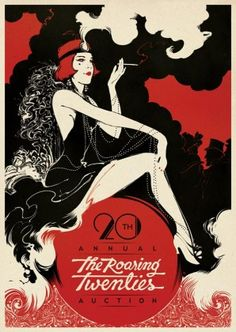 The Roaring Twenties - Poster Illustration by Boris Pelcer