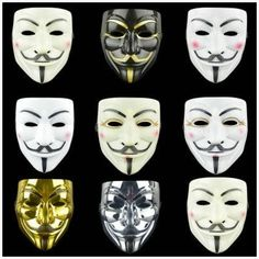 Buy 8 Style Party Masks V for Vendetta Mask Anonymous Guy Fawkes Fancy Adult Costume Accessory Party Cosplay Halloween V For Vendetta Movie, V For Vendetta Face, V Pour Vendetta, Vendetta Mask, Creepy Halloween Costumes, Hallowen Costume, Halloween Face Mask, Halloween Fancy Dress, Halloween Cosplay