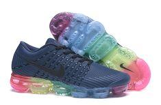 new styles 8bb82 d52bf New Nike Air Max 2018 KPU Navy Blue Rainbow Women Men