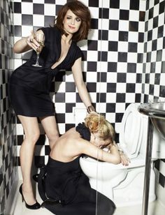 Them classy dames (Tina Fey and Amy Poehler)