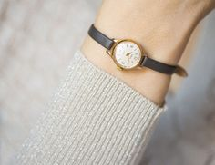 Micro watch women's watch Seagull gold watch round by SovietEra
