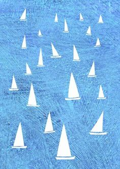 'Sailing' by Nic Squirrell on artflakes.com as poster or art print $19.41