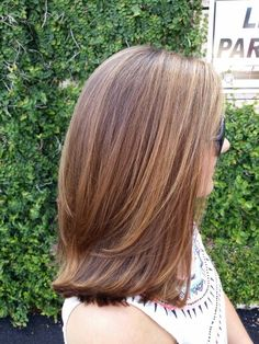 Balayage Golden Blonde on Light Brown