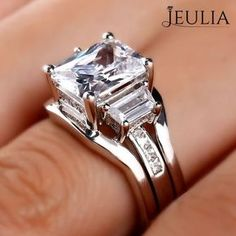 Breathtaking Princess Cut Engagement Rings ❤ Find Your Unique Designer Rings. Gorgeous inlay engagement rings, handmade in the US, made just for you. Choose your inlay stone, metal and diamond for a truly unique look. Princess Cut Rings, Princess Cut Engagement Rings, Engagement Ring Cuts, Diamond Princess, Diamond Rings, Diamond Jewelry, Silver Jewelry, Silver Rings, Sapphire Rings