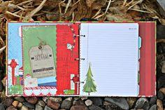 Capture your December memories with an Elf Magic Misc Me Journal designed by Rhonda Van Ginkel. Love how she decorated her pages!! #BoBunny, @Rhonda Van Ginkel