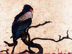 Bateleur Eagle, Oil and Gold leaf on Canvas, 90cm by 120cm, (2011) by Marc Alexander