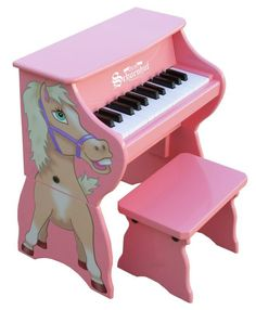 25 Key Tabletop Piano with Bench - Horse