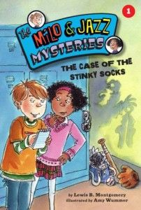(Kane Press) Milo and Jazz team up to solve their very first mystery! The Wildcats' star pitcher is missing his lucky socks, and his pitching is going to pieces.