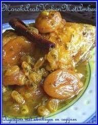 Een kiptajine om van te smullen.......gemakkelijk te maken en ook weer met die typisch Marokkaanse combinatie van hartig met zoet......