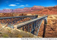 The Navajo Bridge (photo by Michael Wilson), finalist in the ASCE Bridges Photo Contest.