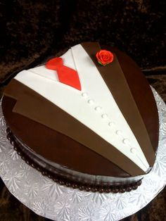 Grooms Cake Tuxedo Bridal Shower Cakes, Baby Shower Cakes, Chocolate Grooms Cake, Creative Memories, Let Them Eat Cake, Cake Pops, Wedding Cakes, Bakery, Parents
