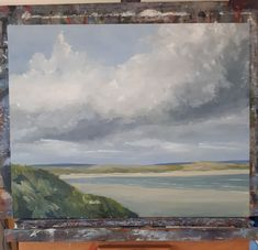 Dundrum Bay from the dunes 20 x 16 ins oil on canvas artfinder.com/john-halliday