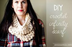 Carissa Miss: DIY Crochet Infinity Scarf Pattern