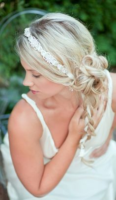 """Bridal Ribbon """"Zahara: Headband by Aubre's Bridal"""
