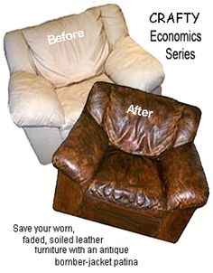 How to transform your old leather furniture with a bomber jacket patina - Plano Arts and Crafts   Examiner.com