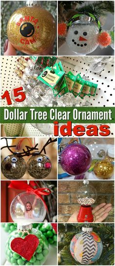 15 Inspiring Ways to Dress Up Dollar Tree Clear Ball Christmas Ornaments - Hip2Save